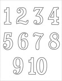 Printable Number Numbers 1 10 New Calendar Template Site