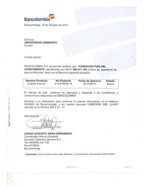 bancolombia certificado cuenta bancaria certificados bancolombia newhairstylesformen2014 com