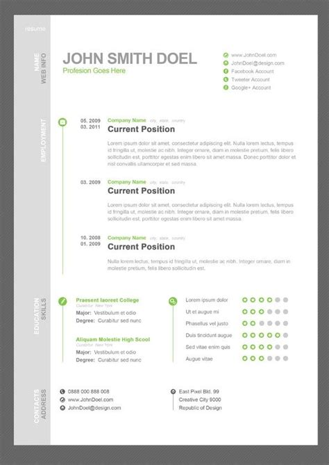 Well Designed Resumes by 21 Best Well Designed Resumes Images On