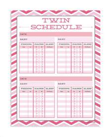 baby routine template baby schedule and babies