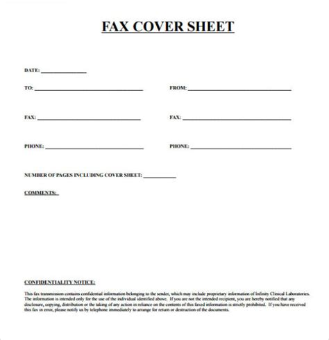 printable fax cover letter template free printable fax cover sheet template pdf word