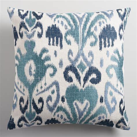 Ikat Pillows Indigo Ikat Jacquard Throw Pillow World Market