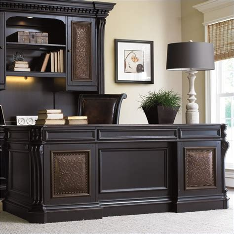 furniture telluride 76 quot executive desk with leather