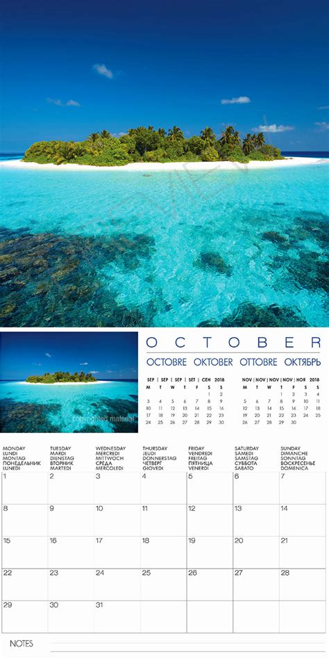 Calendar Island 2018 Wall Calendar Maldives Islands 2018 Calendar With 13