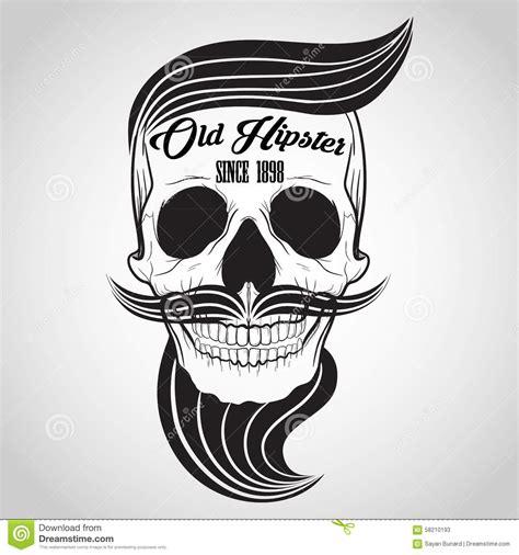 hipster skull logo stock vector image of dead banner