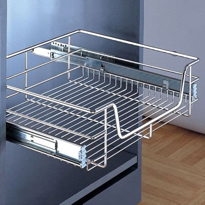Pull Out Basket Drawers by Wire Pull Out Basket 600mm Chrome 805 92 201 80592201