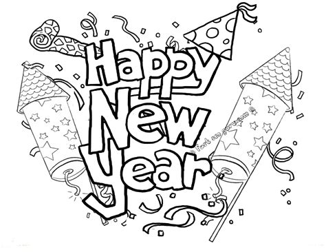 new year colouring in awesome new year s printable coloring book pages free