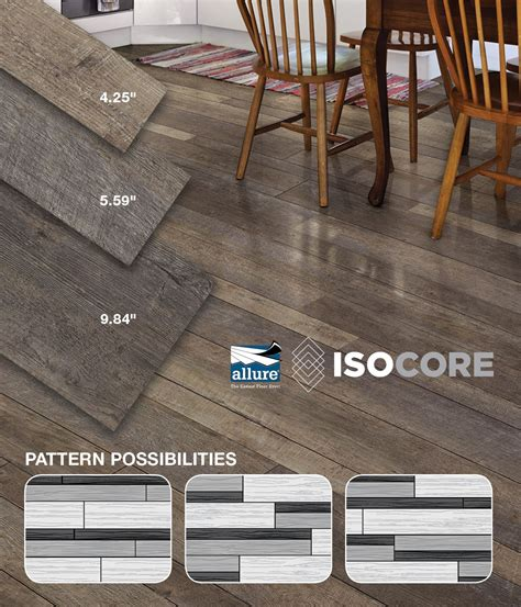 You can install Allure ISOCORE Multi Width Vinyl Plank