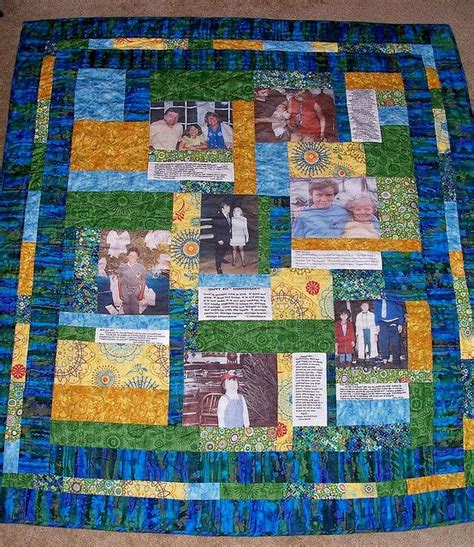 Memories Quilt by Memory Quilts Photo Memory Quilt Sew