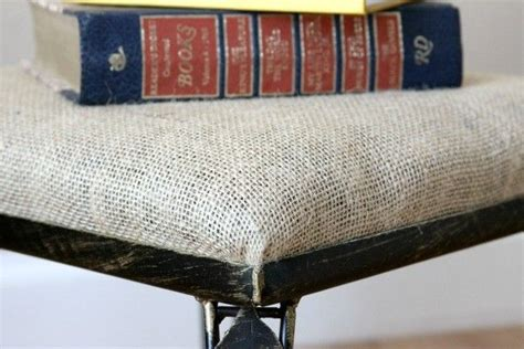 no sew removable bench cushion cover here s how to reupholster a footstool or any removable
