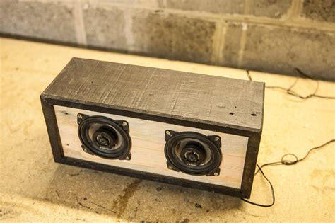 diy tutorial pallet bluetooth speaker box enceinte