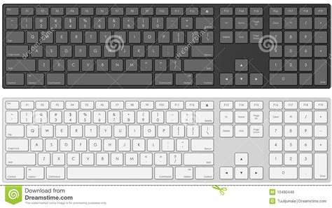 template of computer keyboard vector keyboard template stock vector image of digital
