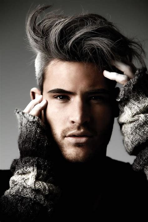 undercut hairstyles for men with gray hair sultry with a grey undercut german dancer marc eggers
