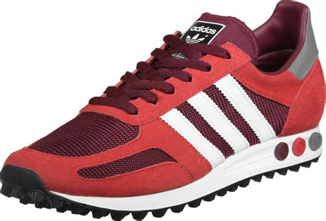 adidas la trainer og adidas la trainer og shoes red maroon white