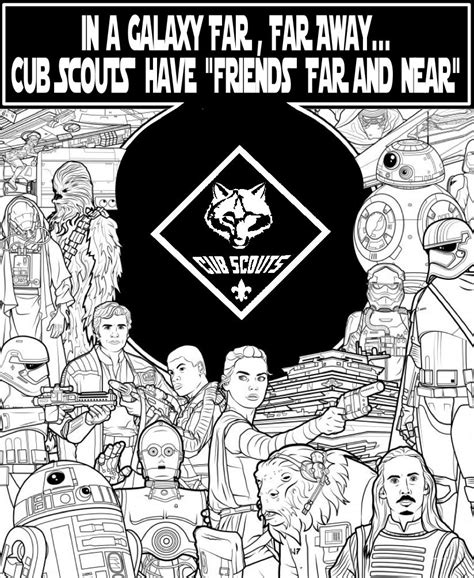 gold star coloring page akela s council cub scout leader training star wars as a