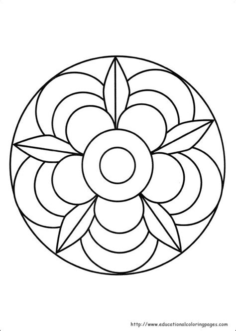 free coloring pages of easy mandalas