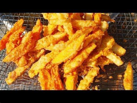 crispy fried potato  fried banana amazing