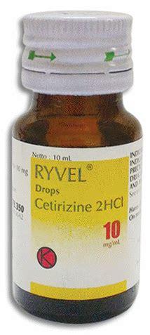 Obat Cetirizine Drop ryvel dosage information mims