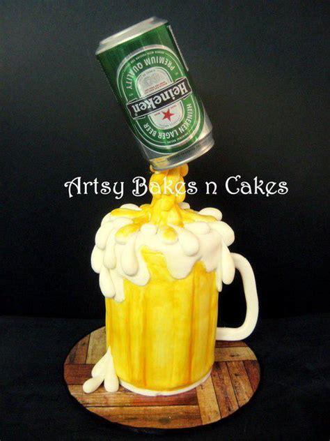 heineken beer cake heineken beer mug cake gravity defying cakes pinterest
