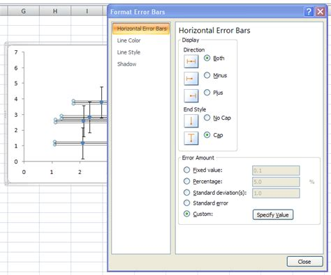 bar chart format excel 2007 error bars in excel 2007 charts peltier tech blog