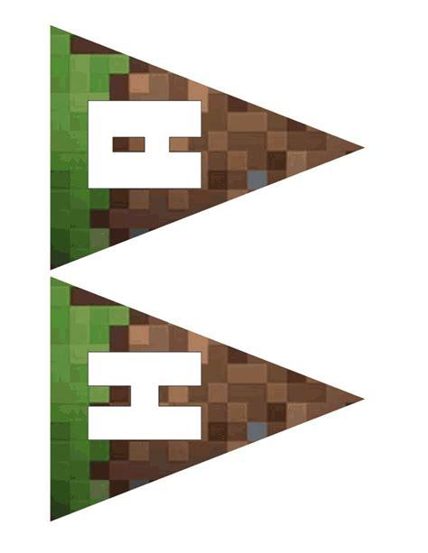 printable happy birthday minecraft banner 6 best images of free printable minecraft birthday banner