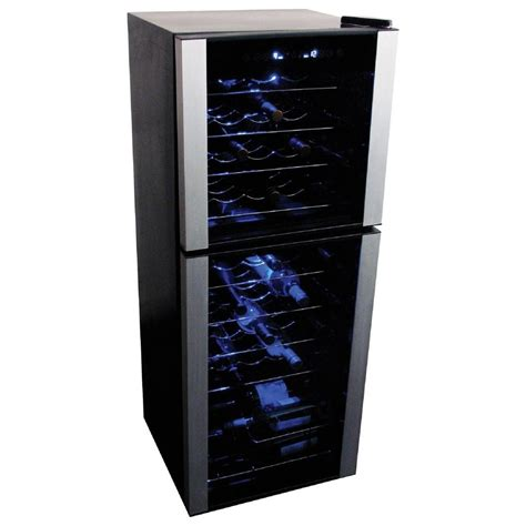 wine room cooler koolatron 45 bottle dual zone wine cellar wc45 the home depot