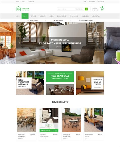 21 Furniture Php Themes Templates Free Premium Templates Furniture Website Templates Free