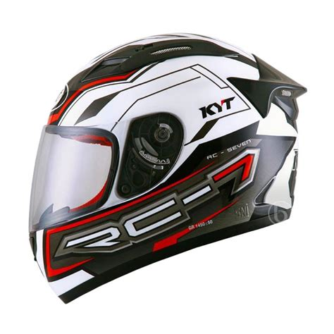 Helm Kyt Rc Seven 14 By Saungmotor jual kyt rc seven 14 helm white black