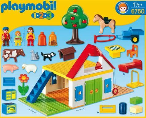 Playmobil 1 2 3 Large Farm playmobil large farm 6750 table mountain toys
