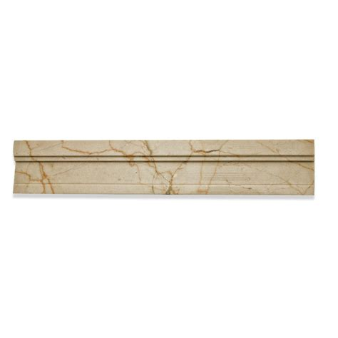 crema marfil chair rail shop 2 x 12 novel chair rail polished marble tile liner in