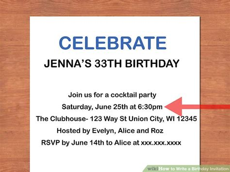 How Do You Write An Invitation Letter For Visa how to write a birthday invitation 14 steps with pictures
