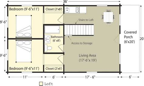 Small Cabin Floor Plan by Log Cabin Homes Floor Plans Rustic House Cottage Plan