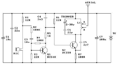 2 transistor fm transmitter circuit gt circuits gt 9v fm transmitter circuit design using transistors l41403 next gr