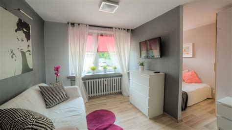 bedroom with living room cracow old town helclow str 1 bedroom livingroom 2400