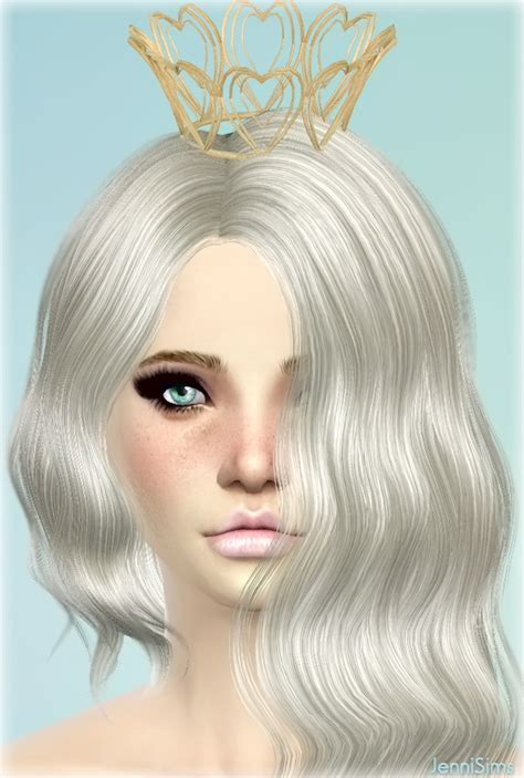 jenni sims new mesh accessory sets bow heart breaker tiara headband at jenni sims 187 sims 4 updates