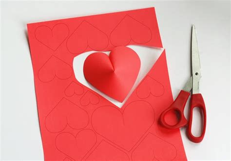 How To Make Hearts Out Of Paper - valentine s day diy idea make a wall of paper hearts