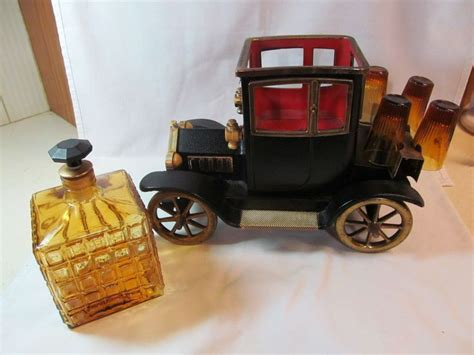 Pottery Kitchen Canisters ford model t car decanter liquor holder music box shot
