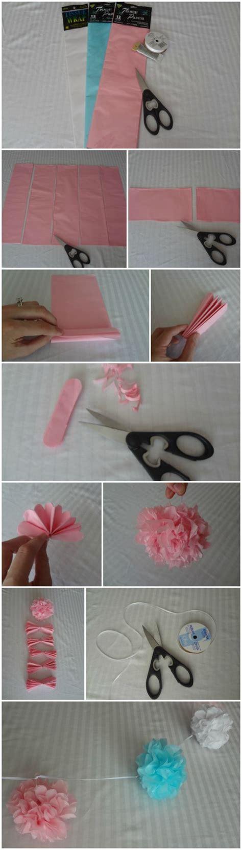 Make Your Own Tissue Paper Pom Poms - how to make a tissue pom pom galand via one stylish