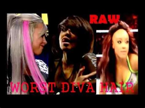 what hair extensions do the wwe divas we wwe divas top 5 worst hair youtube