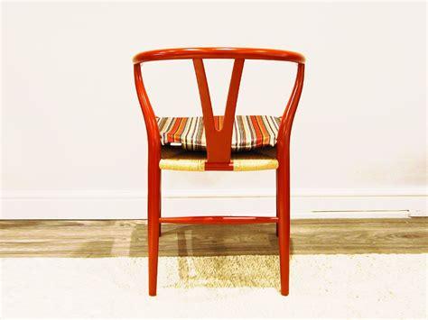 carl hansen son ch wishbone chair paul smith edition red brown chaplins
