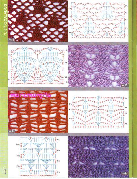graficos de puntos calados de crochet crochet puntos fantasia calados imagui