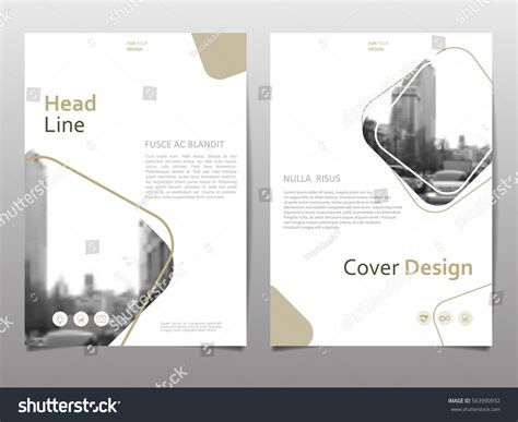 cover layout design vector cover design template annual report abstract stock vector