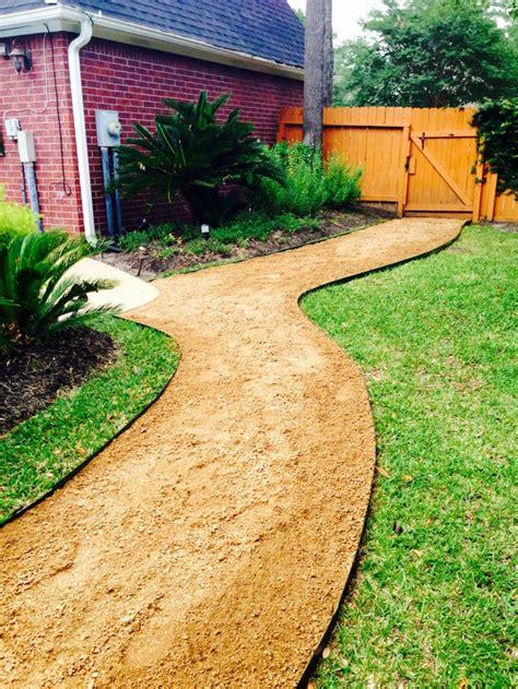 completed crushed granite pathway walkway ideas