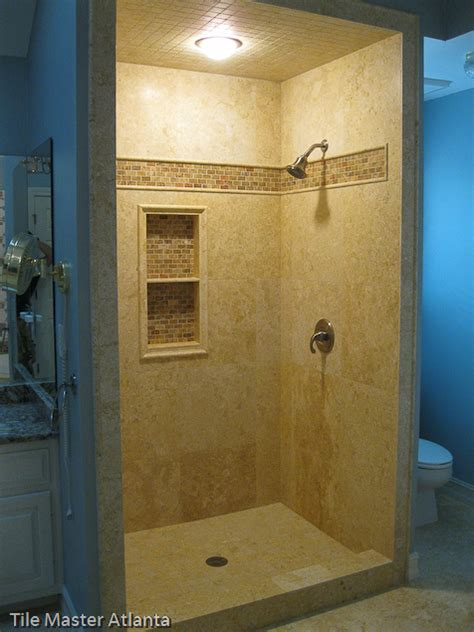 Bathtub Tiling Tile Master Ga Travertine Tile Install Atlanta Ga