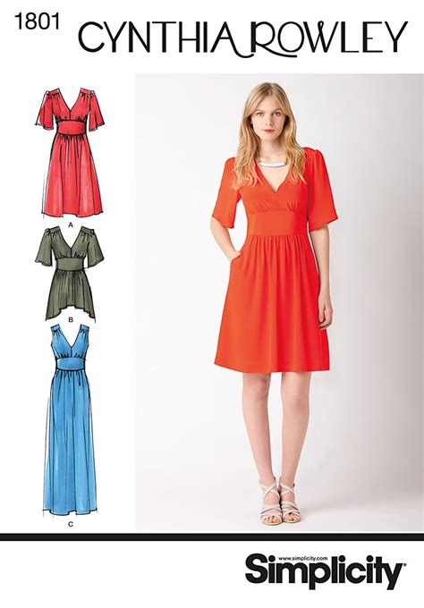 pattern dressmaking simplicity 1801 misses dress