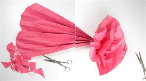blumen aus papier basteln diy riesen papierblumen basteln hochzeitsportal24