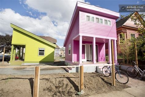 200 sq ft house 200 sq ft pink tiny home in portland or tiny house pins