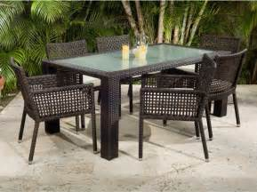 Outdoor Patio Dining Furniture Source Outdoor Matterhorn Zen All Weather Wicker Patio Dining Set Seats 6 Modern Dining
