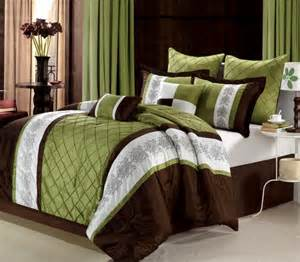 Green And Brown Bedding Sets Uk 12pc Livingston Brown Luxury Bed In A Bag Bedding