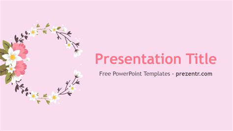 Free Flowers Powerpoint Template Prezentr Powerpoint Flowers Powerpoint Template